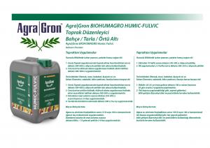 AgraGron Biohumagro Kullanım Miktarları