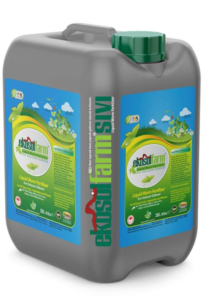 EkosolFarm Sıvı Solucan Gübresi 20 Litre