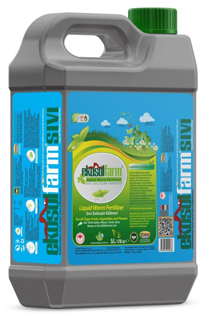 EkosolFarm Sıvı Solucan Gübresi 5 Litre